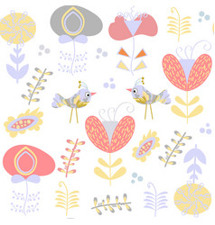 floral gentle seamless pattern it is located in vector image