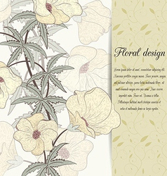 flower design card vector image