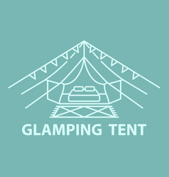 glamping tent accomodation vector image