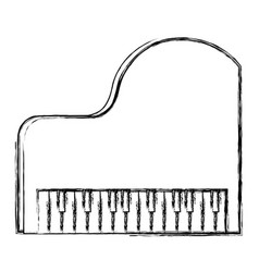 grand piano instrument musical vector image