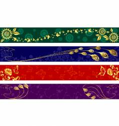 Indian sari banners vector