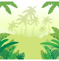 Jungle Flat Background3 vector