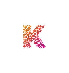 k particle letter logo icon design vector image