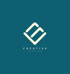 Line logo design forms an abstract rectangle vector