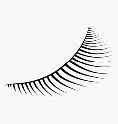 logo eyelashes stylized hair abstract lines vector image