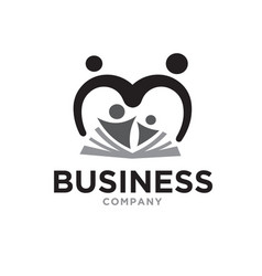 Love parents education care logo designs vector
