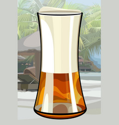 Painted large glass of beer vector