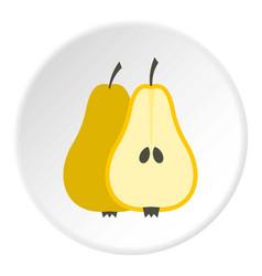 pear icon circle vector image