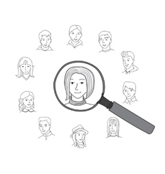 People search round concept vector