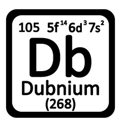 Periodic table element dubnium icon vector image
