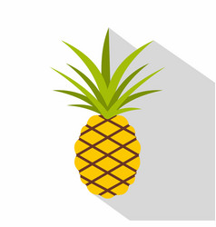 Pineapple icon flat style vector