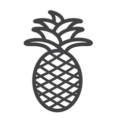 pineapple line icon fruit and tropical vector image