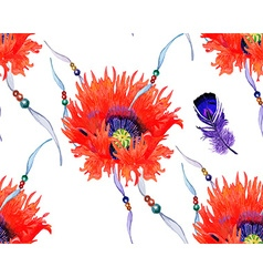 Poppy pattern3 vector image