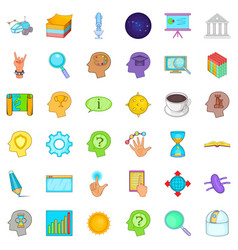 Presentation icons set cartoon style vector