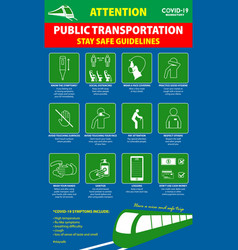 public transport poster or health vector image