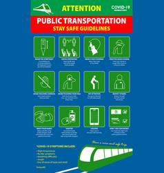 public transport poster or public health vector image