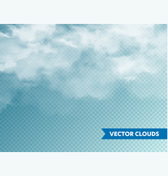 realistic clouds isolated cloud on blue vector image