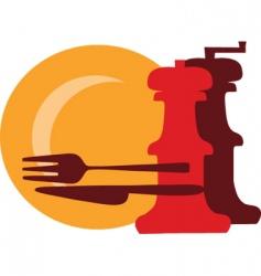 restaurant meals vector image