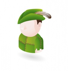Robinhood figure vector