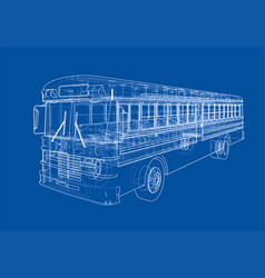 School bus outline vector
