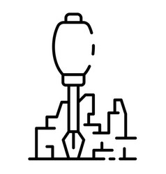 screwdriver building icon outline style vector image