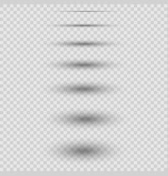 set realistic shadows vector image
