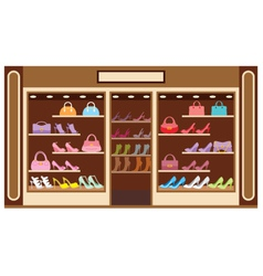 Shop of shoe vector image vector image