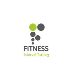 sign for fitness club vector image