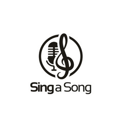 sing a song logo design inspiration vector image