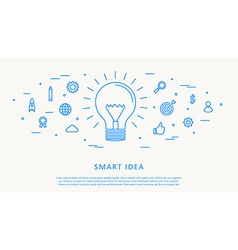 smart idea thin line design vector image