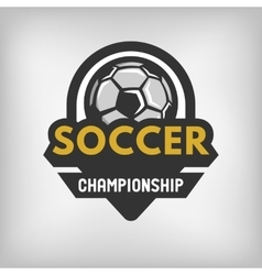 Soccer sports logo vector