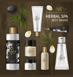 spa cosmetic composition vector image