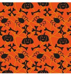 Spider web with bones vector image