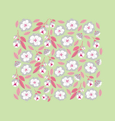 Square banner with spring flowers in bloom vector