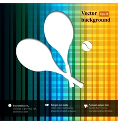 Tennis background with two tennis rackets and vector