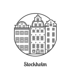 Travel stockholm icon vector