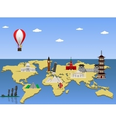 Travel world monument concept vector