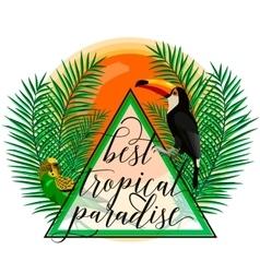 tropical paradise card vector image