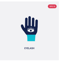 Two color eyelash icon from gestures concept vector