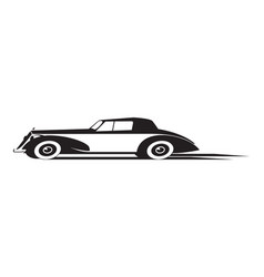 vintage car in motion vector image