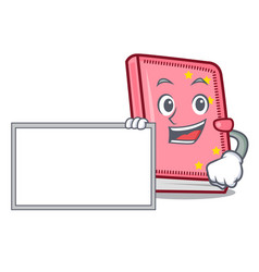 with board diary character cartoon style vector image