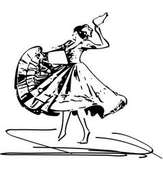 Woman dancing marinera vector