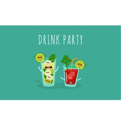 cocktail bloody mary mojito vector image