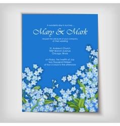 Floral decorative wedding or invitation design vector image vector image