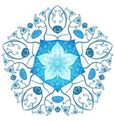 Zentangle mandala style original lace ornament vector image