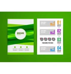 Design brochure template vector image