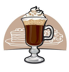 irish coffee vector image vector image