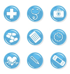 Medical pills icon set vector image