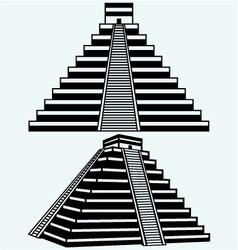 Pyramids in central mexico vector image