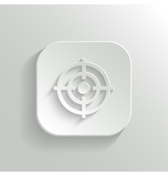Target icon - white app button vector image vector image